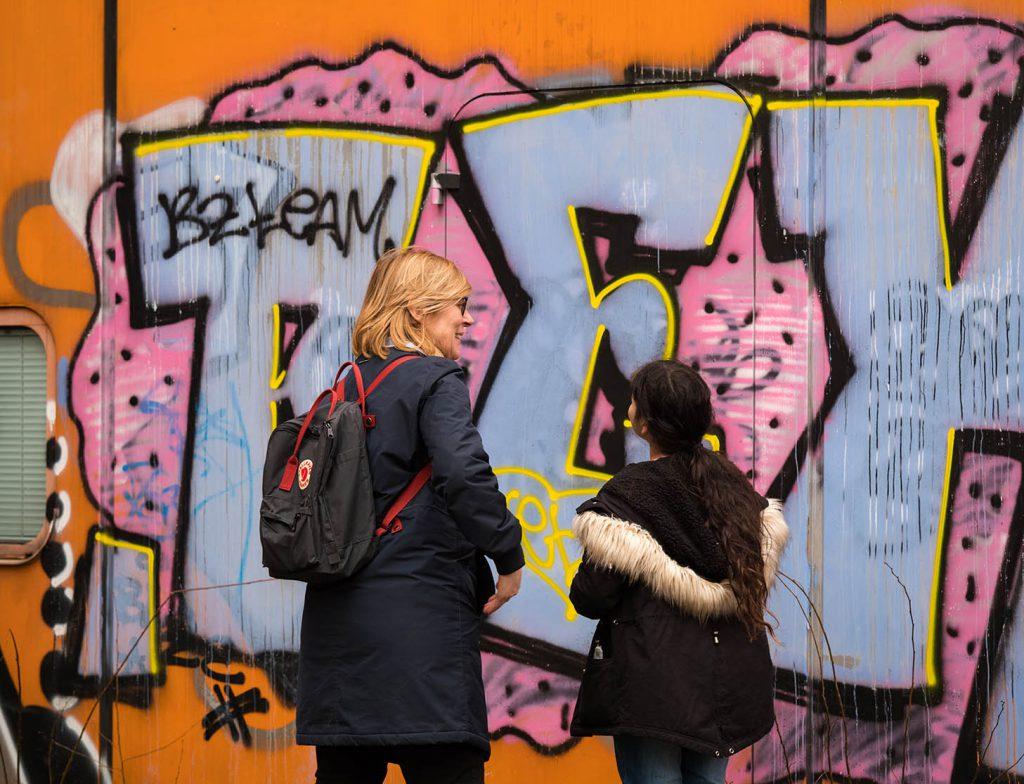 Graffiti angucken